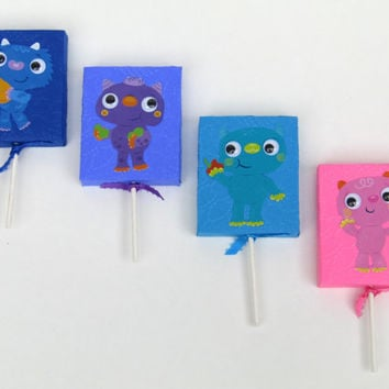 8 Googly Eye Monster Lollipop Candy Cover - Monster Boy / Girl Birthday Party Favor - Monster Party Classroom Favors - Treat Birthday Box