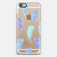 dancing feathers in blue iPhone 6 case by Julia Grifol Diseñadora Modas-grafica | Casetify