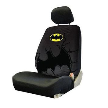 Licensed Official New DC Comics Batman The Dark Knight Car Truck Front Seat Cover & Headrest Cover