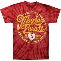 Mayday Parade Men's  Label Tie Dye T-shirt Multi