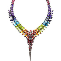 Rainbow Feather Collar Necklace by Stephen Webster - Moda Operandi