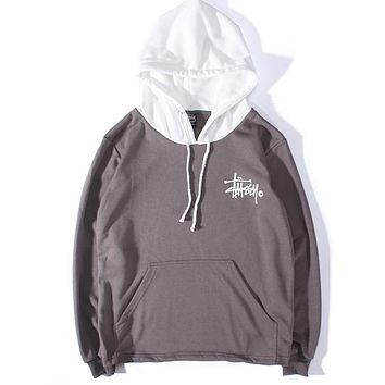 Stussy Women or Men Fashion Casual Loose Top Sweater Hoodie