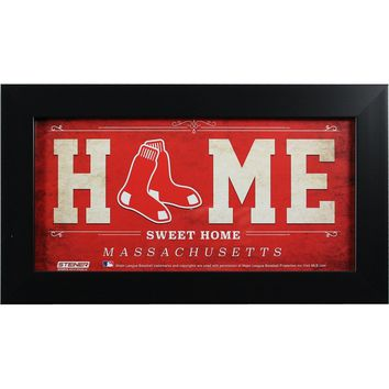 Boston Red Sox 6x12 Home Sweet Home Sign