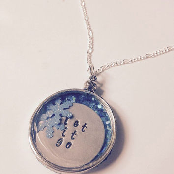 Let It Go Frozen Inspired Silver Pendant Necklace