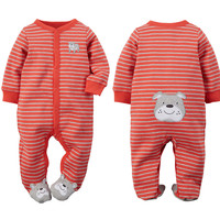 3 Style Carters Baby Romper Boys Jumpsuit Infant Polar Fleece Overall Cotton Newborn Baby Girls Clothes Spring Autumn Size 0-12M
