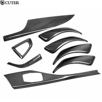 F20 Carbon Fiber interior Door handle cover car body kit for BMW F20 116i 118i 1 Series Coupe 2012 UP