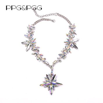 PPG&PGG 2017 Hot Boho Collar Choker Drop Crystal Beads Necklace & pendant Charm Vintage Statement Beads Neck Chain Jewel