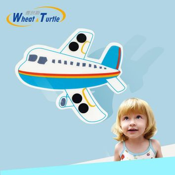 1 PCS LCD Children's Thermometer Sticker Forehead Thermometer Fever Body Baby Kids Flight Pattern Celsius Medical Temperature