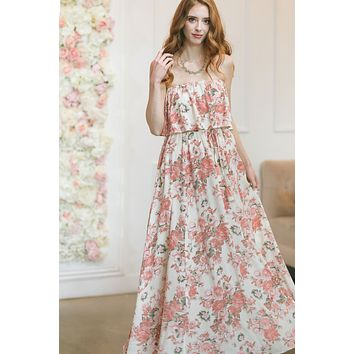 Amaya Floral Strapless Maxi Dress