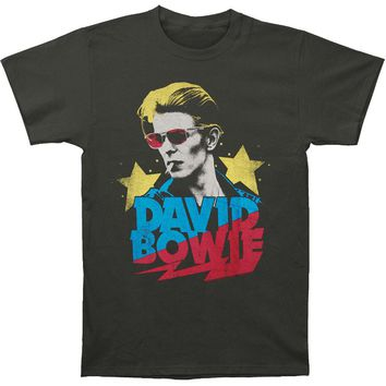 David Bowie Men's  Starman Slim Fit T-shirt Coal