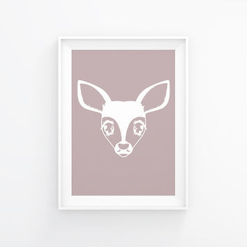 Fawn Face Poster