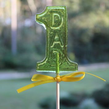 GIFTS For DAD 6 Barley Sugar Hard Candy Lollipops Party Favors Gifts For Him Number One Dad 1 Dad To Be