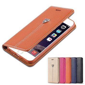 Newest Supreme Luxury Retro Flip Leather Case For Iphone 6 /Iphone 6 Plus Nobility XD