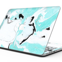 Black and Teal Textured Marble - MacBook Pro with Retina Display Full-Coverage Skin Kit