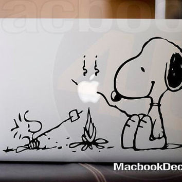 Snoopy Bonfire Party Vinyl Decal sticker for by macbookdecal4u