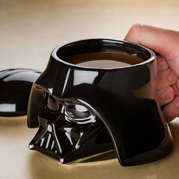 Star Wars Mug Inspired, Stormtrooper Helmet Darth Vader Mug 3D Ceramic Coffee Tea Cup Doube Wall Head SKull Home Decor Personalized Gift Him