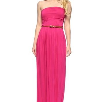 Tube Belted Maxi Dress
