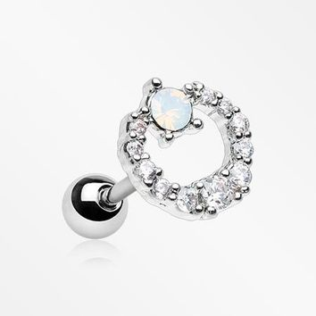 Karma Loop Sparkle Opalite Cartilage Tragus Earring