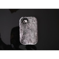 For iPhone 5S Case,IC ICLOVER Handmade Luxury Rex Rabbit Fur Case for Iphone 5/5S (Gray)