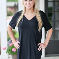 Piko Dress/Short Sleeve - Black
