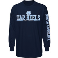 North Carolina Tar Heels :UNC: Runner Long Sleeve T-Shirt - Navy Blue