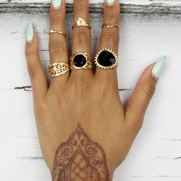 Gold Sway Ringset
