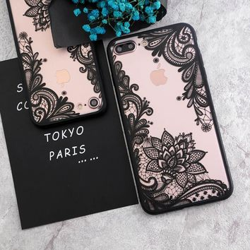 SoCouple Sexy Lace Floral Paisley Flower Mandala Henna Case For iphone 5s 5 SE 6 6S 7 8 6/7/8 Plus Phone Cases Cover