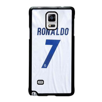 RONALDO CR7 JERSEY REAL MADRID Samsung Galaxy Note 4 Case Cover