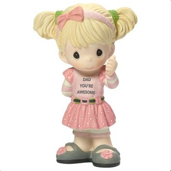 """Precious Moments """"Dad You're Awesome"""" Figurine, Girl"""