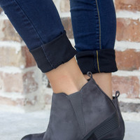 Back to The Basics Booties: Available in Gray & Taupe