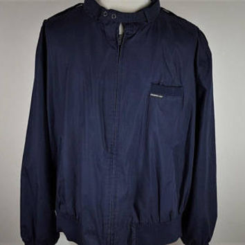 Vintage  Members Only Black Bomber Jacket Mens 3xl~ Cafe Racer Big And Tall