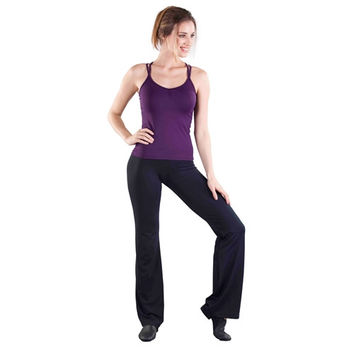 "So Danca D7070 32"" Inseam Cotton V-Cut Waist Jazz Pants"