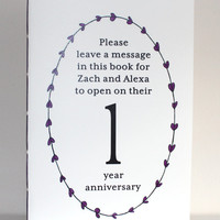 """Wedding Table Number Book - 8.5"""" x 5.5"""" Large Size"""