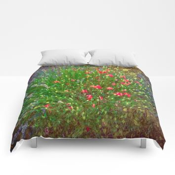 Opposites Attract Digital Watercolor Comforters by Louisa Catharine Photography