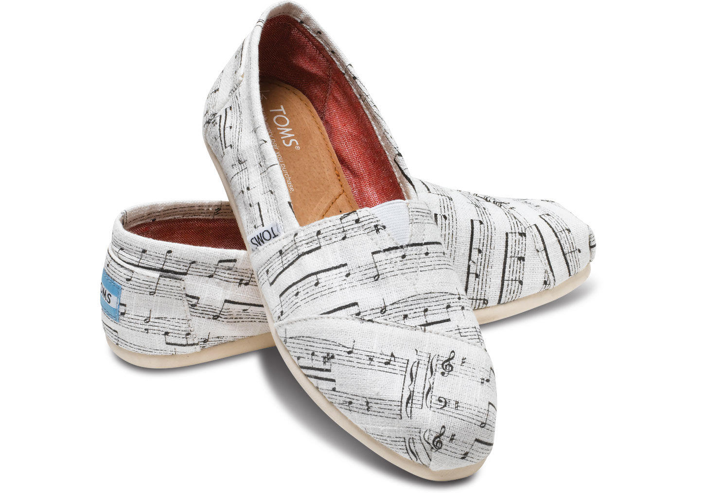 White Hemp Music Notes Women S Classics From Toms Shoes And