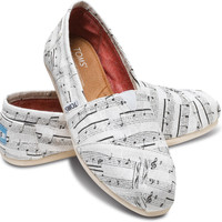 WHITE HEMP MUSIC NOTES WOMEN'S CLASSICS