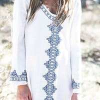 Cupshe Fever Trip Embroidered Casual Cover-up