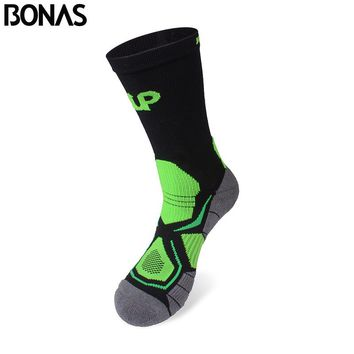 Bonas Breathable Socks Short CoolMax Male Absorb Sweat Fashion Cotton Socks