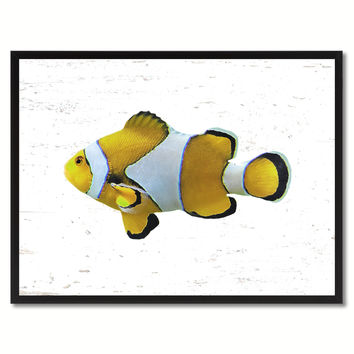 Yellow Clown Tropical Fish Painting Reproduction Gifts Home Decor Wall Art Canvas Prints Picture Frames