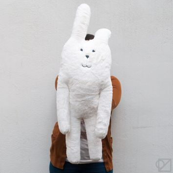 Craftholic RAB Fluffy White Hugging Cushion - Omoi Zakka Shop