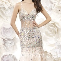 Criss Cross Back Gown by Moonlight Prom