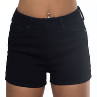 Late Night High Waist Shorts In Black