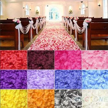 LMFUG3 100pcs Chic Silk Rose Flower Petals Leaves Wedding Party Table Decorations  JK = 1931978116