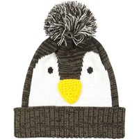 BLACK PENGUIN BEANIE HAT