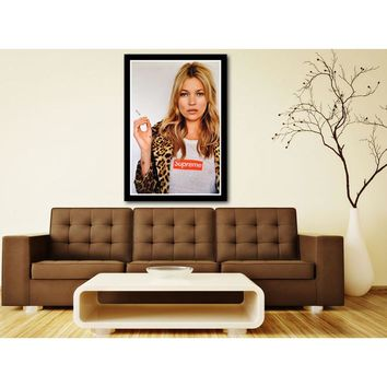 J0428- Super Sexy Model KATE MOSS SUPREME New Hot Silk Light Canvas Art Poster Top Print For Home Decoration Room Decor No frame