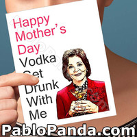Mothers Day Card | Lucille Bluth | George-Michael Bluth Jason Bateman Mothers Day Cards Mother Daughter Birthday Cards Gift For Mothers Day