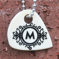 Monogrammed Initial Cow Bone Necklace