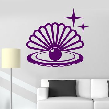 Vinyl Wall Decal Pearl Shell Jewelry Shop Beauty Stickers Unique Gift (ig3938)