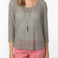 UrbanOutfitters.com > Staring at Stars Textured Cropped-Sleeve Top