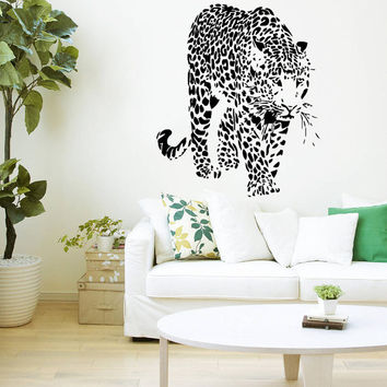 Wall Decal Vinyl Sticker Decals Art Home Decor Design Murals Leopard Print Wild Cat Wildcat Animals Panther Tiger Bedroom Bathroom Dorm AN28
